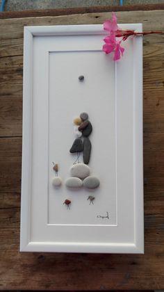 Pebble art couple couple gift home decor home by pebbleartSmiljana