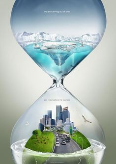 Repetition: They kept the art work the same in the top as they did in the bottom.  One of the best climate change ads I've seen