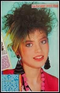 Maquillage et coiffure - année 80