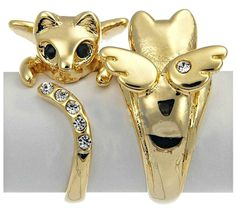 Adjustable Crystal Angel Cat Ring:  This cute, adjustable crystal angel cat ring is fun to wear and can be worn on different parts of your finger!  These rings come in 4 different colors and will go perfect with your favorite outfit and can also be given as a gift so make sure you order an extra set of rings today!