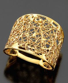 14k Gold Wire Filigree Ring - Rings - Jewelry & Watches - Macy's