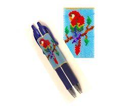 Parrot Beaded Pen Wrap Pattern