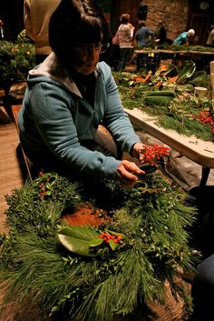 Folk School Wreath Making by John C. Campbell Folk School, via Flickr