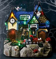 Scary Village-Plays music with Lights! So adorable for home or perfect for a teacher that decorates the classroom.