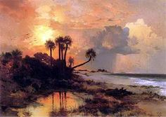 March 20, 2013 Hermann Ottomar Herzog and Thomas Moran Visited To Paint Florida!   Plein Aire in Maine