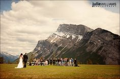 Destination wedding to Banff- Tunnel Mountain, reception was at Rocky Mountain Resort.