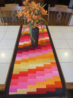 Quilts For Sale, Custom Quilts, Custom Wall, City Lights, Contemporary, Modern, Table Runners, Collaboration, Environment