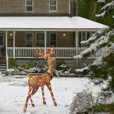 Christmas Decorations | Lighted Deer | Lighted Deer Sculptures - American Sale