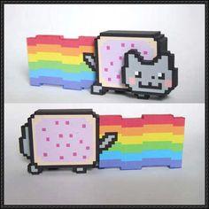 Nyan Cat Free Papercraft Download - http://www.papercraftsquare.com/nyan-cat-free-papercraft-download.html