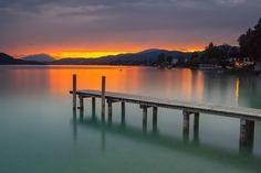 Wörthersee sunset II - no HDR - single shot Leefilter soft, hitech reverse filter, Polfilter Hdr, Austria, Filters, Shots, Sunrises, Outdoors, Image, Beautiful, Random