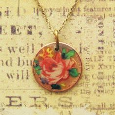 Penny decal necklace