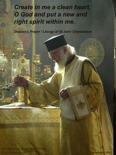 Deacon' prayer from Divine Liturgy