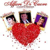 23 - 28 aprile 2013 - Mariangela D'Abbraccio, Pino Quartullo e Chiara Noschese in Affari di cuore di Colette Freedman, tratto dal romanzo di Anna Dillon The Affair al Teatro Nuovo di Milano.