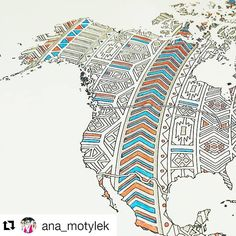 Look at this beautiful work in progress shot by @ana_motylek  I can't wait to see the final effect of this world map with mandala patterns coloring :) I love sending posters to my Polish customers  adult coloring - mandala world map - coloring poster - work in progress - instagram - mandala art - travel map - sales map