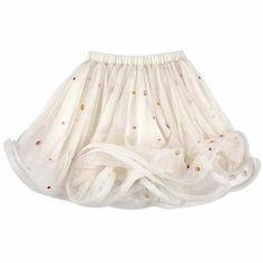 Billieblush- Tulle skirt with multicoloured stones