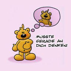Grußkarte verschicken! E Cards, Greeting Cards, Cute Kiss, Smiley Emoji, German Quotes, My Philosophy, Cute Bears, Love You, My Love