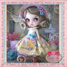 ** Milk Tea's ** Custom Blythe * .. Duck-chan .. * (USED)  Buy her here:   #blythe #blythedolls #kawaii #cute #rinkya #japan #collectibles #neoblythe #customblythe