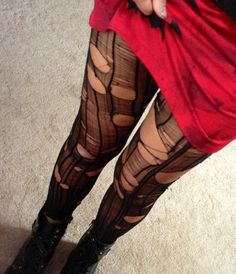 Ripped to shreds rocker tights made to order by CrashNBurnClothing, $15.00