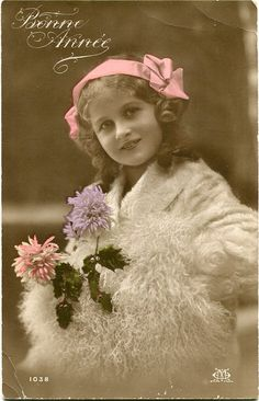French tinted period postcard.