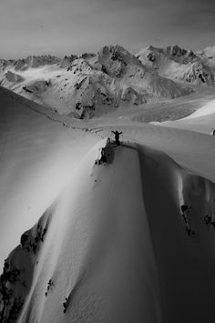 Tanner Hall on top of a peak in Alaska. (this board is named after his clothing line btdubs)Photo: Adam Clark