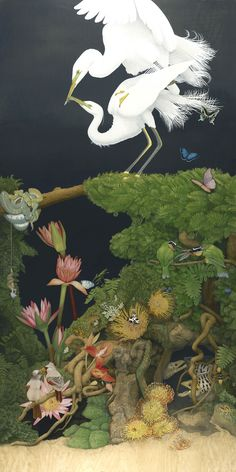 "♥ Everywhere I Look, 42"" x 84"", acrylic on maple panel wood, 2011 - Tiffany Bozic"