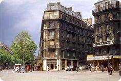 Le boulevard Magenta, à l'angle des rue de Maubeuge et Saint-Vincent de Paul, vers 1956