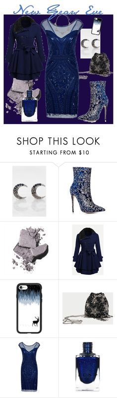 """""""New Years Eve"""" by pretty-and-practical ❤ liked on Polyvore featuring Rebecca Minkoff, Bobbi Brown Cosmetics, Casetify, Stele and Chloe + Isabel"""