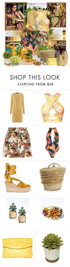 """""""Tropics"""" by sheavschaaf ❤ liked on Polyvore featuring Vanity Fair, Seed Design, Theory, River Island, Tory Burch, Caterina Bertini, Banana Republic, Lumière, Nancy Gonzalez and INC International Concepts"""