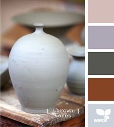Pottery inspired color swatch.