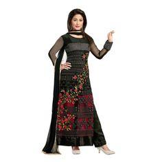 Winsome Black Georgette Designer Salwar Suit
