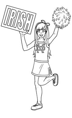 the fighting irish coloring pages - photo#7