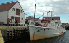 Iceberg Hunter Boat in Battle Harbour, N.L.