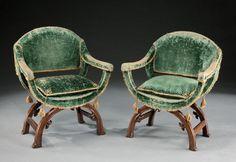 www.mackinnonfineart.com fine-furniture d a-pair-of-curule-form-armchairs 238087