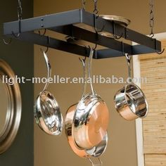 I want one, one day. Inspiration for pot rack