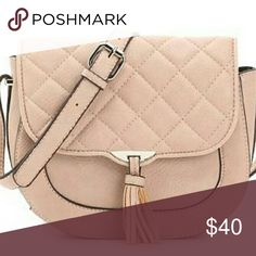 BRAND NEW Lulu London Cross body Bag Brand new faux leather crossbody bag in a blush color. Back zipper pocket on the inside. Lulu London Bags Crossbody Bags