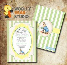 Peter Rabbit Baby Shower #Invitation #PeterRabbit #BabyShower #PeterRabbitBaby #VinatgePeterPabbit