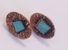 Rare Vintage BELL Copper Genuine Turquoise Chunk by TheCopperCat, $32.00