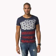 Hilfiger Denim Ray Print T-shirt - graphite-pt (Blau) - Hilfiger Denim T-Shirts - Hauptbild
