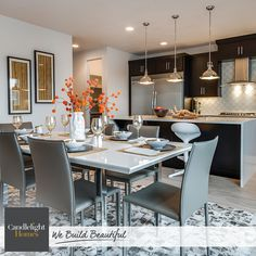 With a dining room like this, there's no need for a night out on the town. At Candlelight Homes, we build beautiful, luxury kitchens.