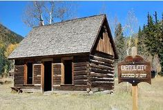 Post office at the ghost town of Capitol City, on the Alpine Loop Byway near Lake City, Colorado.