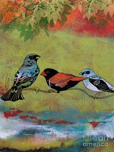 Birds In The Valley-b Painting