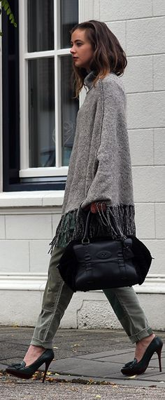Patchwork Denim And Fringed Poncho Fall Inspo by Mode d'Amour