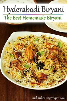 hyderabadi biryani recipe - Make the best biryani at home with this simple no fail recipe. With video & step by step instructions indian hyderabadibiryani biryani biryanirecipe 49891508358880350 Chicken Biryani Recipe Indian, Hyderabadi Biryani Recipe, Lamb Biryani Recipes, Biryani Chicken, Biryani Rice Recipe, Veg Recipes, Curry Recipes, Indian Food Recipes, Asian Recipes