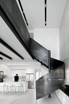 #architecture #design #interiors #kitchen #stairs #modern #contemporary//////www.bedreakustik.dk/home DISCOUNT TO PINTEREST CUSTOMERS Dedicated to deliver superior interior acoustic experience.#pinoftheday#interior#scandinavian design#krumm///////