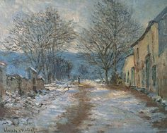 (via 1886 Claude Monet Snow effect at Limetz(private collection)(65 x 81 cm) | Flickr - Photo Sharing!)