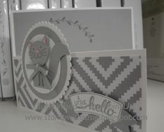 Stamp with Susie: Stampin' Up!- 'Foxy Friends'= a kitty!