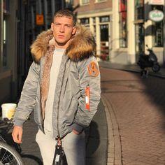 Fur Fashion, Urban Fashion, Mens Fashion, Brandon Myers, Mens Fur, Amsterdam, Shearling Coat, Men's Collection, Fur Jacket