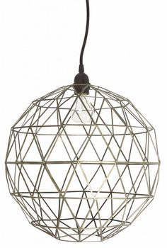 Housedoctor Lampenkap voor hanglamp zilver metaal Ø40cm, Lamp shade Ball iron finish