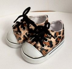 Cute Safari designed sneakers.  Fits almost all 18 inch dolls including our own Sew *Able* dolls and American Girl Dolls.