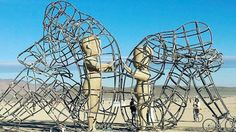 Burning Man 2015:  - Sculpture representing tje inner child in all of us.